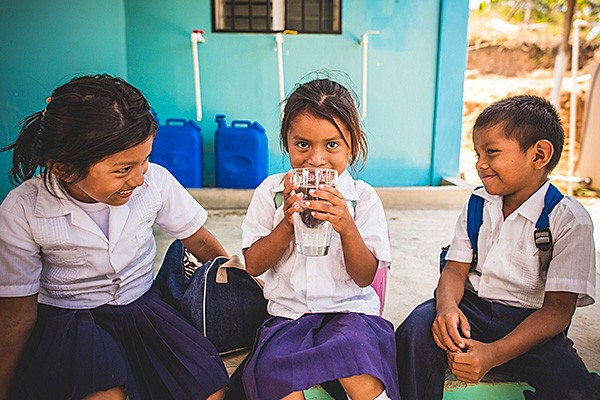 Water Mission Girls Drinking Water
