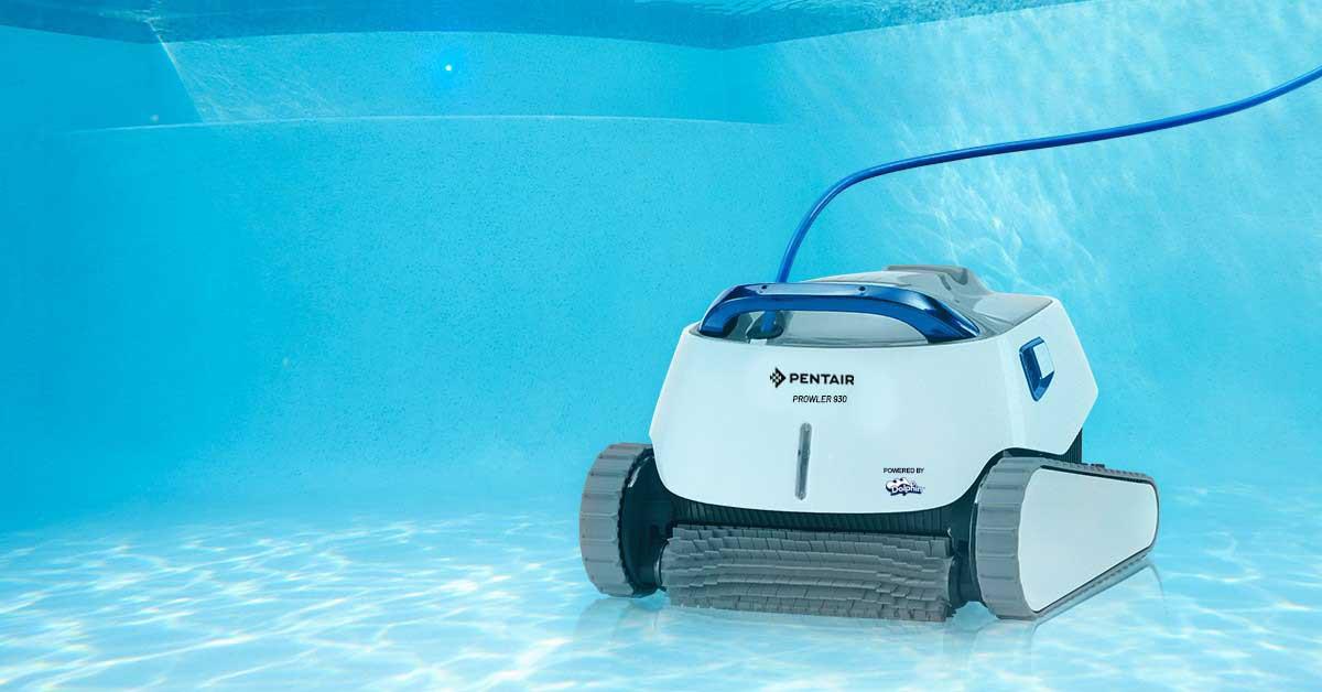Prowler 930 Robotic Pool Cleaner underwater in pool