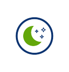 magical mood setting icon, pool lights, green moon, blue circle, t4, transparent png