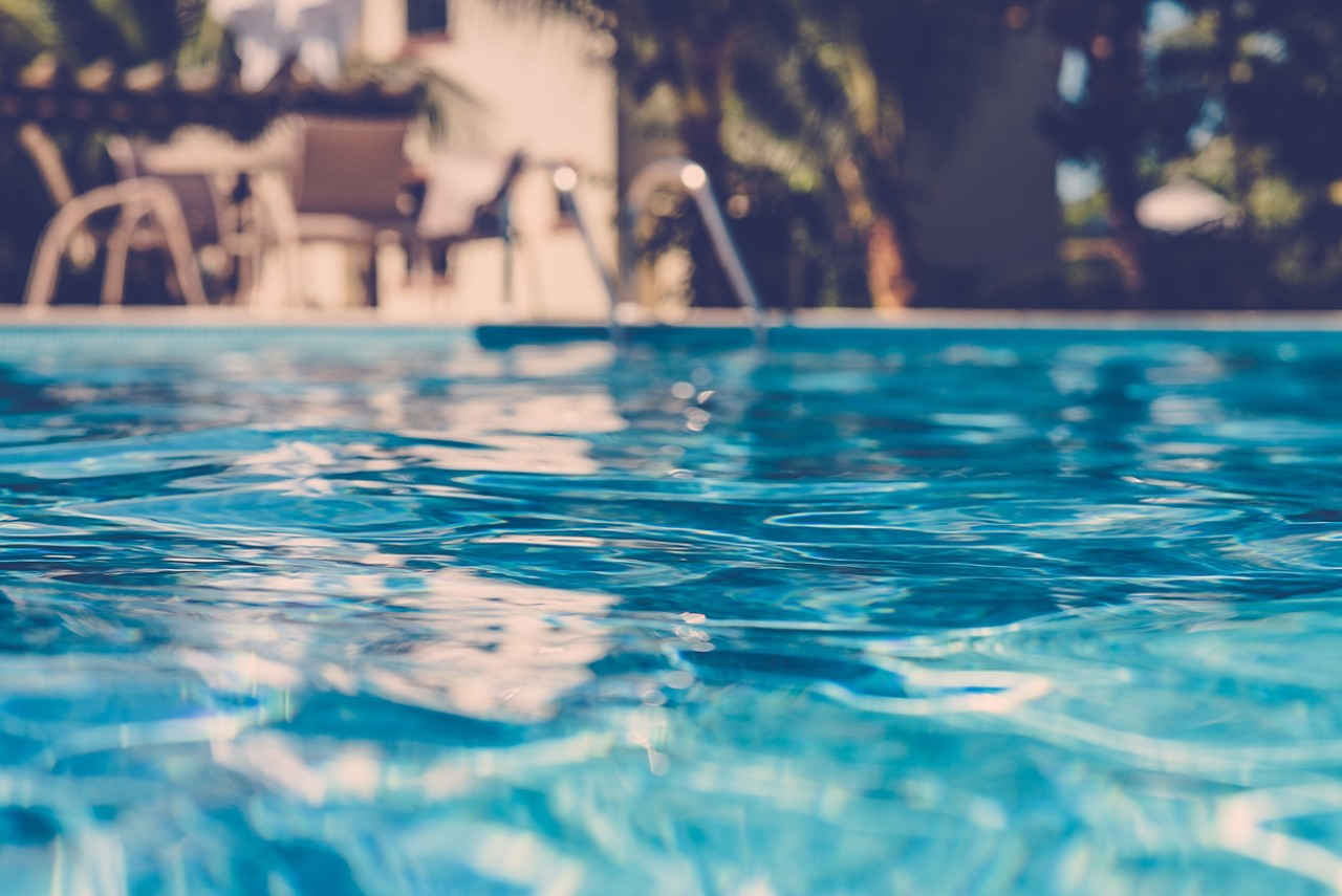 pool water up close