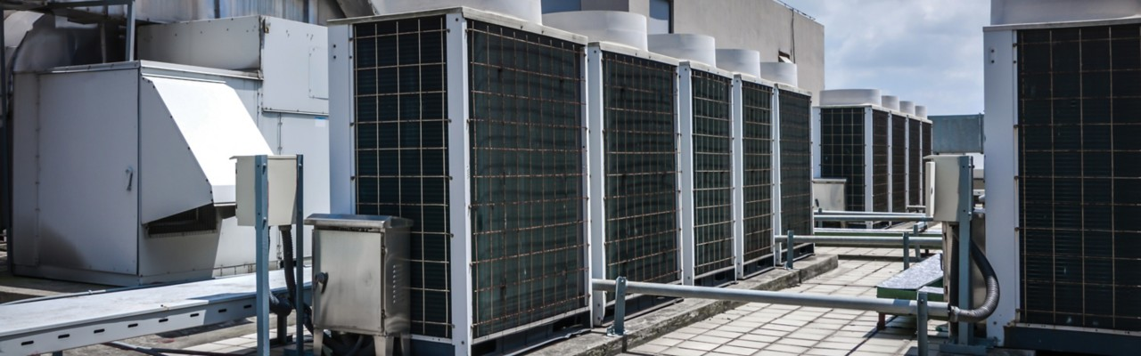 HVAC system on rooftop